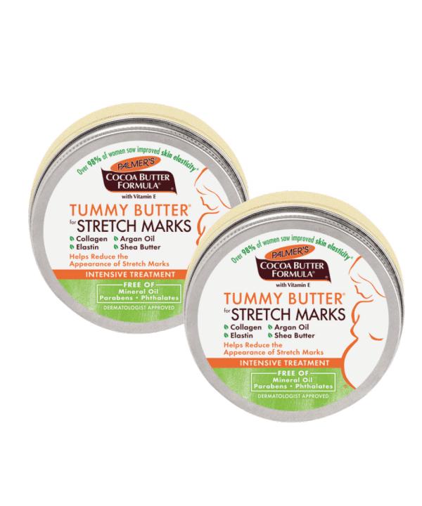 חמאה לעיסוי הבטן לסימני מתיחה - זוג מוצרים